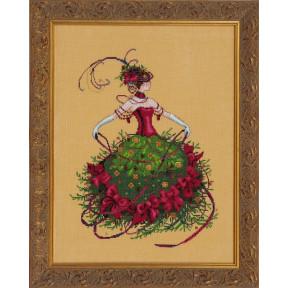 Схема для вышивания Mirabilia Designs MD148 Miss Christmas Eve