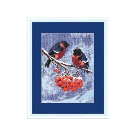 Набор для вышивки крестом Чарівна Мить 283ч Снегири фото