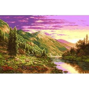 Набор для вышивания гобелен  Goblenset G790 Пейзаж на закате