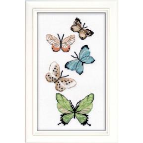 Набор для вышивки крестом Овен 1076о Бабочки