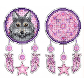 Набор для вышивки крестом МП Студия Р-303 Ловец снов. Волк