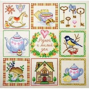 Набор для вышивки крестом Марья-Искусница 11.001.10 Дом милый