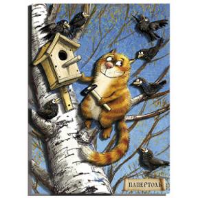 """Картина из бумаги Папертоль РТ150164 """"Рыжий и скворцы"""""""