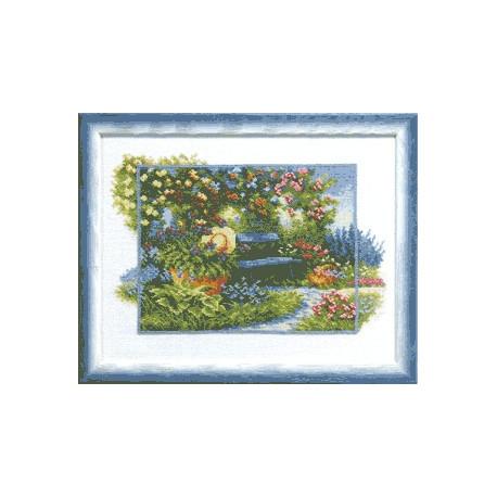 Набор для вышивки крестом Чарівна Мить А-097 В летнем саду фото