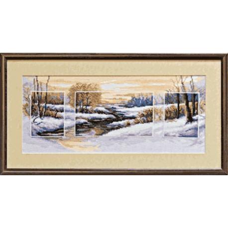 Набор для вышивки крестом Чарівна Мить 535ч Зима фото