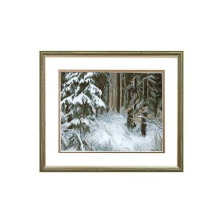 Набор для вышивки крестом Чарівна Мить 532ч Сугробы в лесу фото