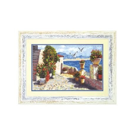 Набор для вышивки крестом Чарівна Мить 528ч Крымская набережная