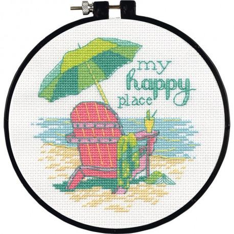 Набор для вышивания крестом Dimensions 72-75678 My Happy Place
