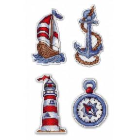 Набор для вышивки крестом МП Студия Р-275 Морское настроение. Магниты
