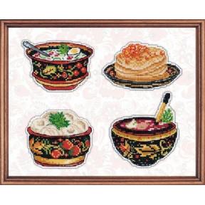 Набор для вышивки крестом Овен 1081 Русская кухня