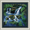 Набор для вышивки Чарівна Мить406ч Водопад среди папоротника