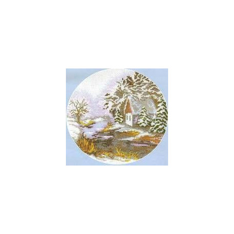 Набор для вышивки крестом Чарівна Мить 370ч Зима фото