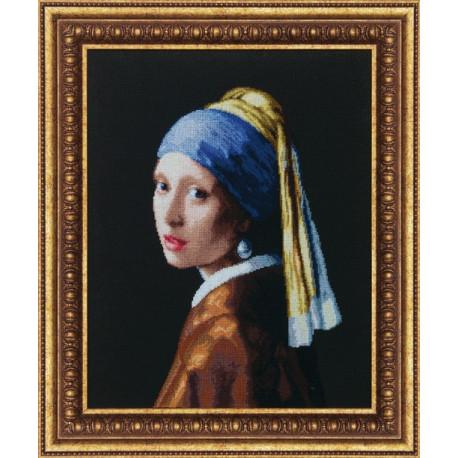 Набор для вышивки Чарівна Мить М-66 Девушка с жемчужной серьгой