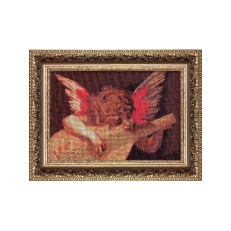 Набор для вышивки крестом Чарівна Мить 429ч Ангел с лютней фото