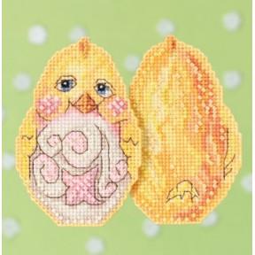 Набор для вышивания Mill Hill JS181712 Yellow Chick фото