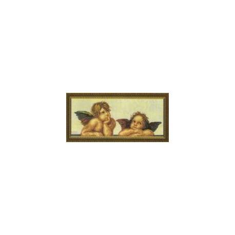 Набор для вышивки крестом Чарівна Мить 305ч Ангелочки фото