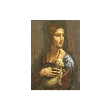 Набор для вышивки крестом Чарівна Мить 295ч Дама с горностаем