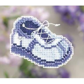 Набор для вышивания Mill Hill MH181101 Blue Sneaker фото