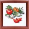 Набор для вышивки крестом и бисером Чарівна Мить М-39 Овощной