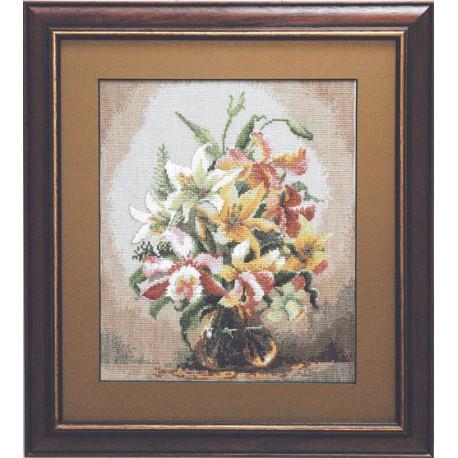 Набор для вышивки крестом Чарівна Мить 590ч Букет орхидей фото