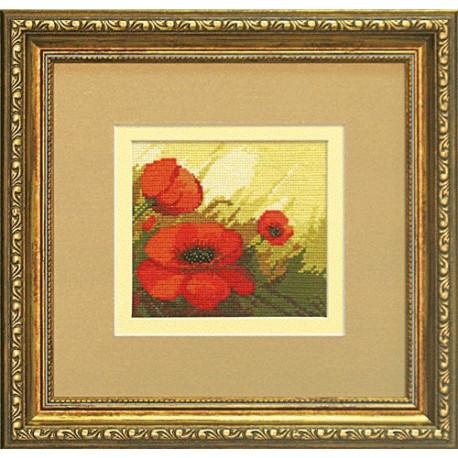 Набор для вышивки крестом Чарівна Мить А-108 Красные маки фото