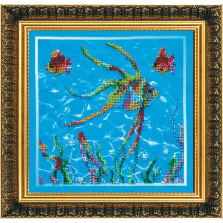 Набор для вышивания бисером Абрис Арт АВ-084 Рыбки 2 фото