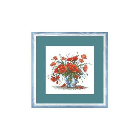 Набор для вышивки Чарівна Мить А-125 Букет красных маков фото