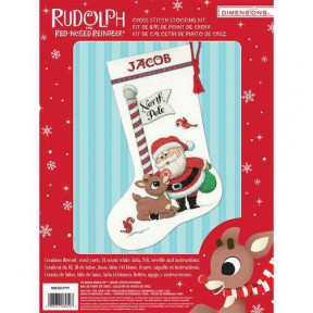 Набор для вышивания Dimensions 70-08959 Rudolph Stocking фото