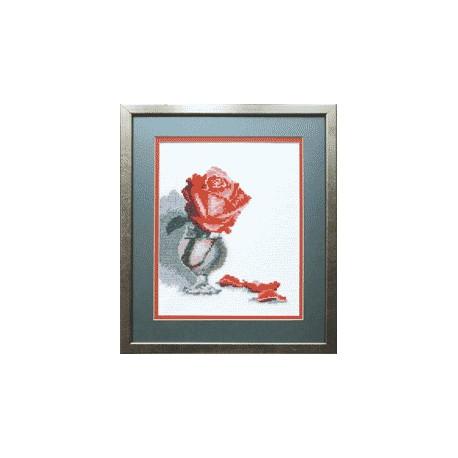 Набор для вышивки крестом Чарівна Мить А-111 Роза в бокале фото