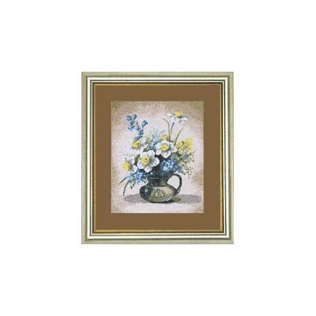 Набор для вышивки Чарівна Мить 581ч Весенние цветы в кувшине