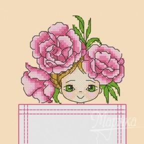 Набор для вышивки крестиком на одежде Марічка НКВ-001 Цветочная фея