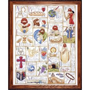 Набор для вышивания Design Works 2432 Inspirational ABC фото