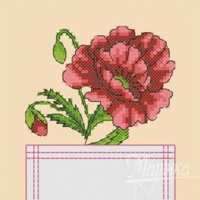 Набор для вышивки крестиком на одежде Марічка НКВ-005 Мак