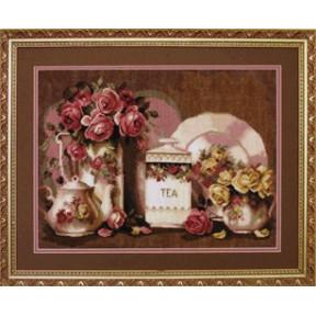 Набор для вышивки крестом Чарівна Мить 495ч Натюрморт с розами