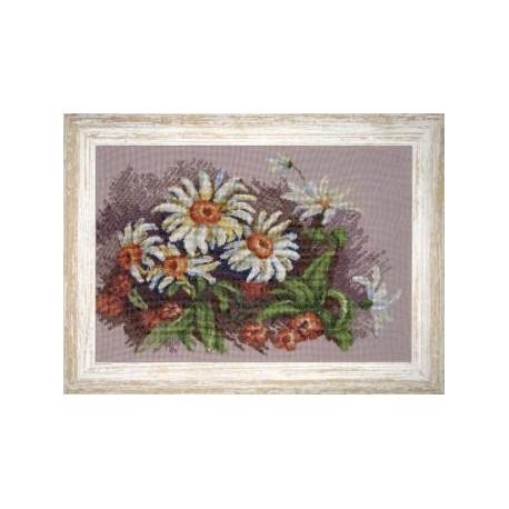 Набор для вышивки крестом Чарівна Мить 430ч Ромашки фото