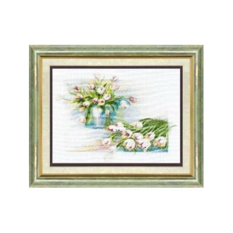 Набор для вышивки крестом Чарівна Мить 284ч Тюльпаны фото