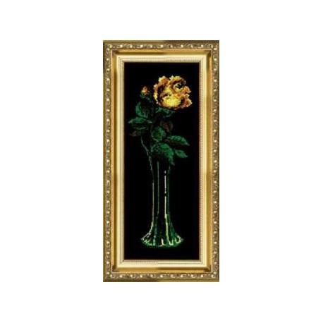 Набор для вышивки крестом Чарівна Мить 129ч Желтая роза фото