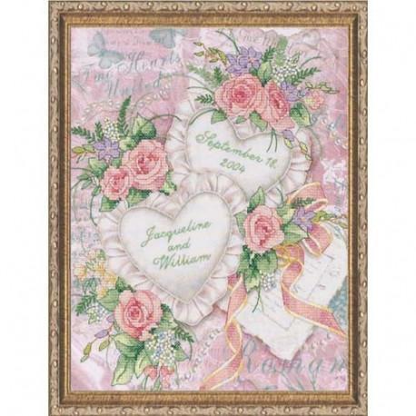 Набор для вышивания Dimensions 03217 Two Hearts фото