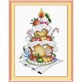 Набор для вышивки крестом МП Студия  М-048 Фруктовый десерт