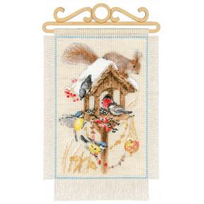 """Набор для вышивания крестом Риолис 1751 """"Дача. Зима"""""""