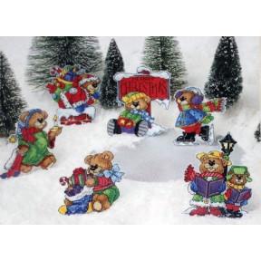 Набор для вышивания крестом Classic Design Рождественские мишки 4461