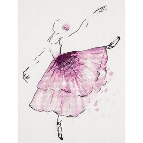 """Набор для вышивки крестиком Panna Ц-1886 """"Балерина. Анемон"""""""
