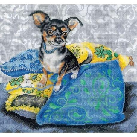 Набор для вышивки RTO M267 Интерьерные собачки – чихуахуа