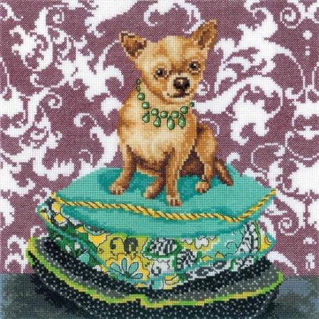 Набор для вышивки RTO M266 Интерьерные собачки–чихуахуа рыжий