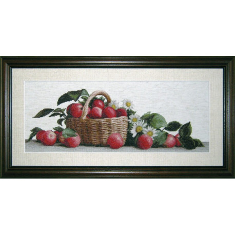 Набор для вышивки крестом Юнона 0605 Яблоки и ромашки фото