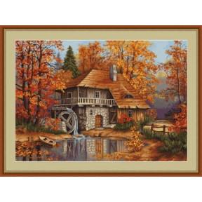 Набор для вышивки крестом Luca-S  Осенний пейзаж B481