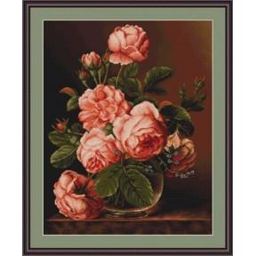 Набор для вышивки гобелена Luca-S  Розы в вазе G488
