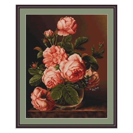 Набор для вышивки гобелена Luca-S Розы в вазе G488 фото