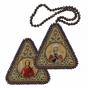 """Набор для вышивания двухсторонней иконы Нова Слобода ВХ-1237 """"Св. Мц. Татиана и Ангел Хранитель"""""""