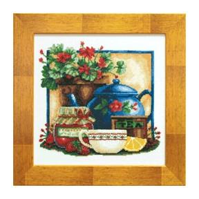 Набор для вышивки крестом Чарівна Мить СТ-33 Чай и клубника